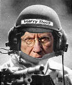 Harry Reid Behind the bleachers